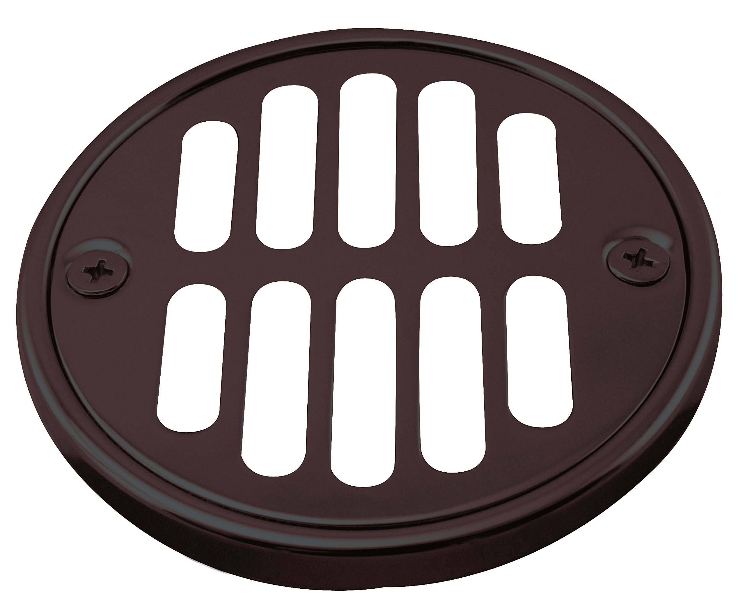 Westbrass Shower Strainer Set with Screws, Grill and Crown, Oil Rubbed Bronze, D312-12