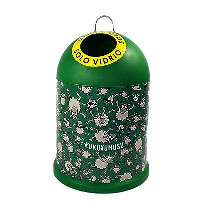 Miniglu Mini contenedor ovejitas para reciclaje de visrio
