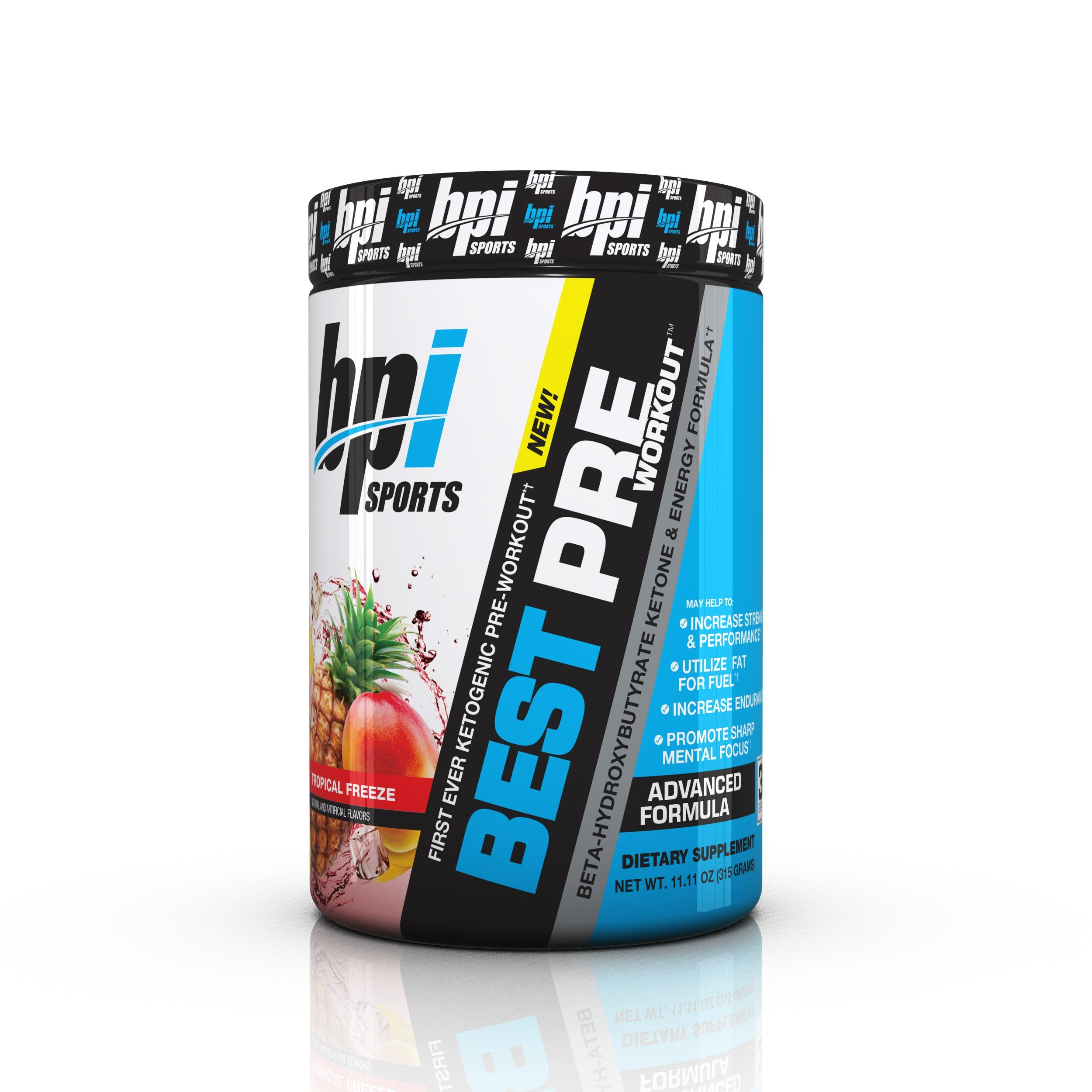 BPI Sports First Ever Ketogenic Pre Workout Supplement for Ketosis   with MCTs and BHB Salts, Tropical Freeze, 11.11 Ounce