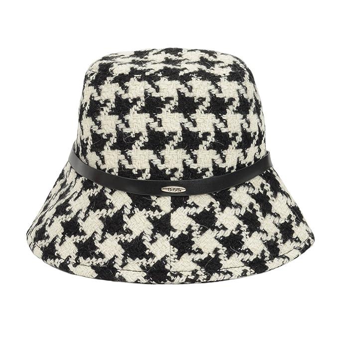 ab9962448 UASU Ladies Winter Check Houndstooth Tweed Bucket Hat with Belt