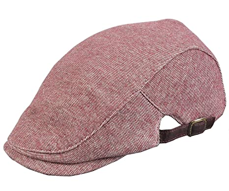 Irish Cap Cotone Coppola Cappello Gatsby Unisex (Burgundy)  Amazon ... c162ebc2c8d4