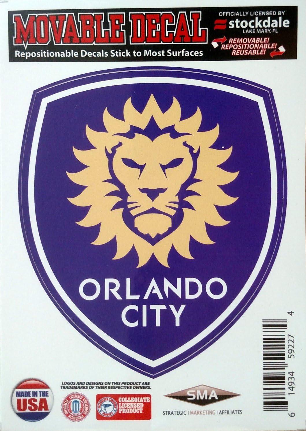 Amazon Com Orlando City Sc Lions 5 Vinyl Die Cut Decal Sticker Repositionable Mls Soccer Football Club Sports Outdoors [ 1492 x 1059 Pixel ]