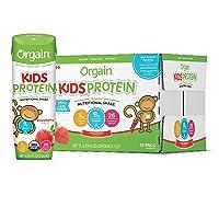 Orgain Organic Kids Protein Nutritional Shake, Strawberry - Great for Breakfast...