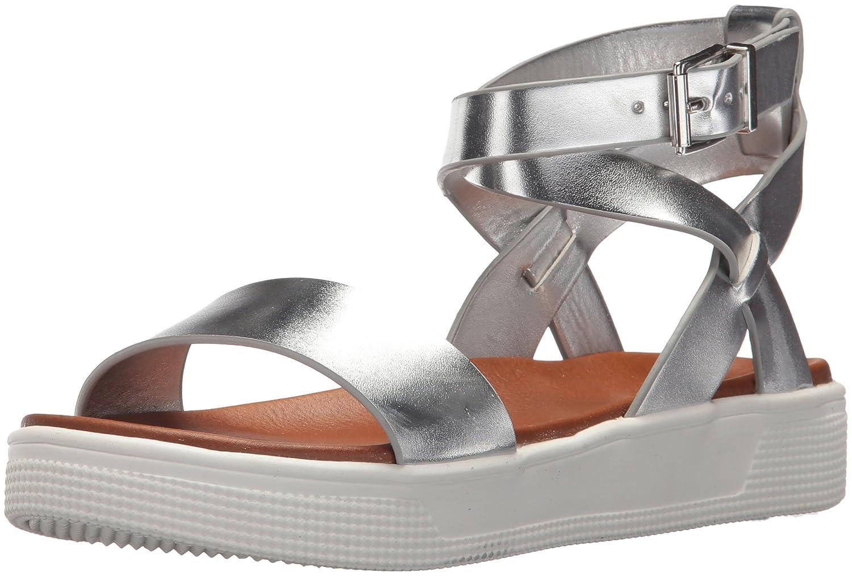 MIA Amore Women's Calla Flat Sandal B077Y49DST 8 M US|Silver
