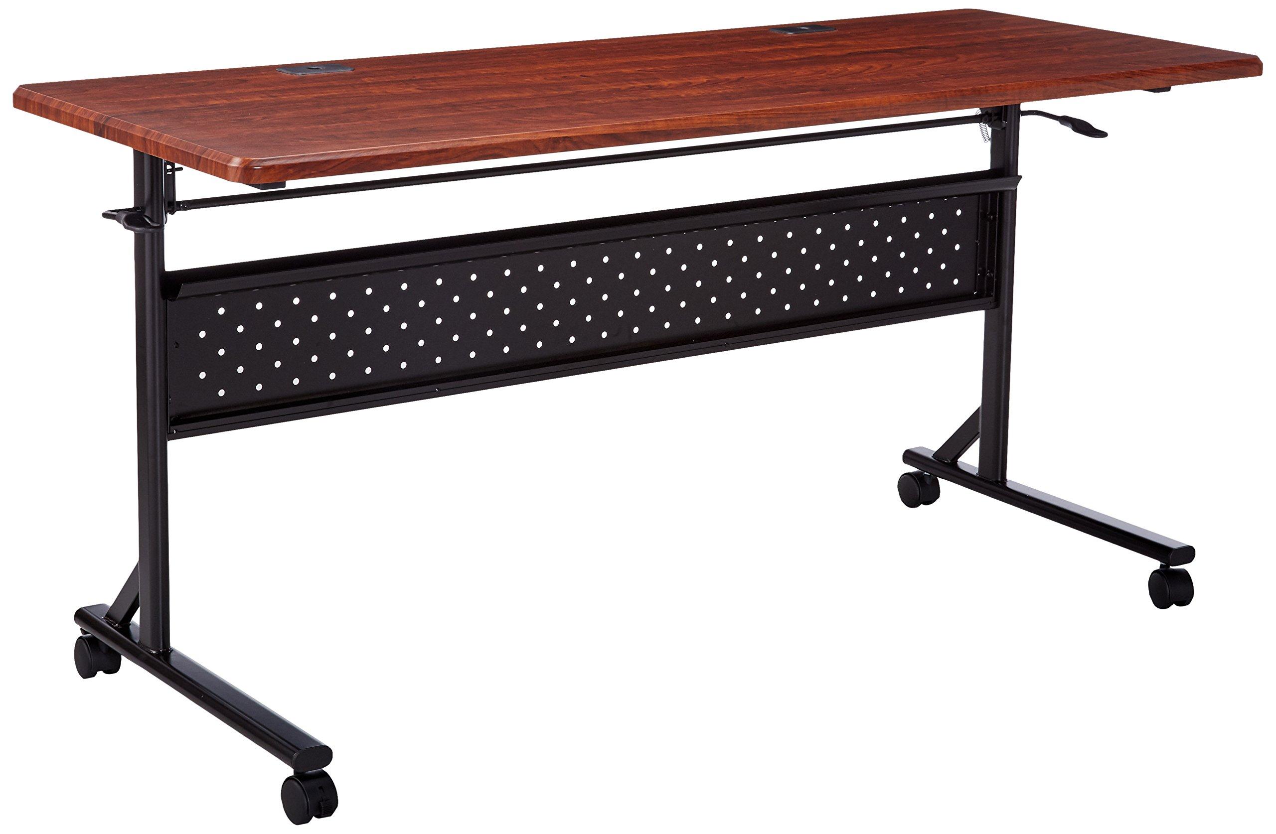 Lorell  Flipper Training Tables, 2.95'' Height X 26.77'' Width X 61.81'' Length, Cherry