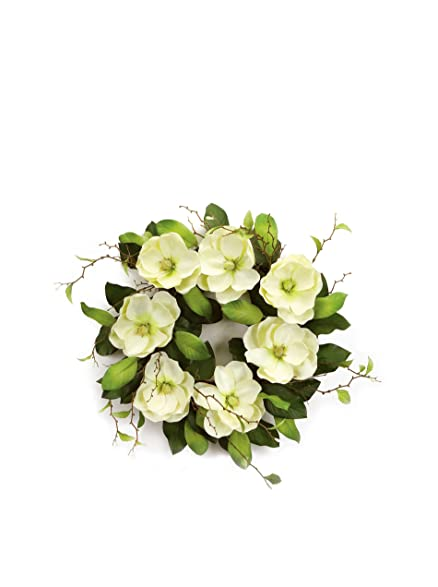 melrose cream magnolia wreath 26inch