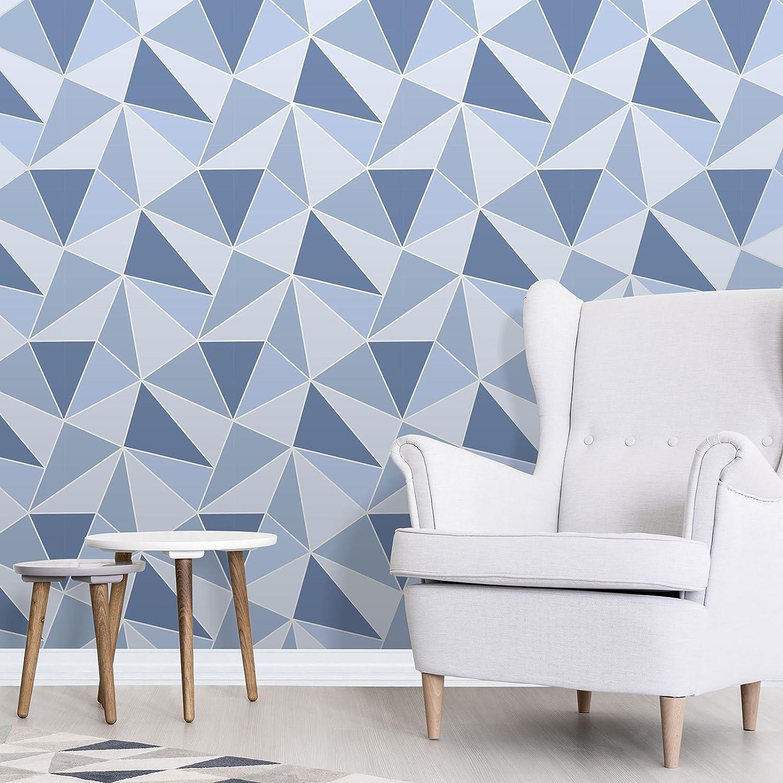 . Apex Geometric Wallpaper Blue Fine Decor FD41992     Amazon com