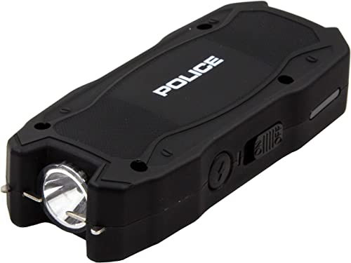 POLICE Stun Gun 1901 – Max Voltage USB Rechargeable with LED Flashlight, Black