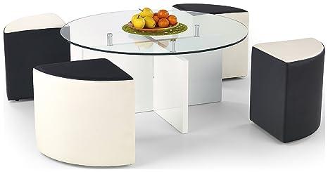 Justyou latoya tavolino da salotto tavolo d appoggio sgabelli