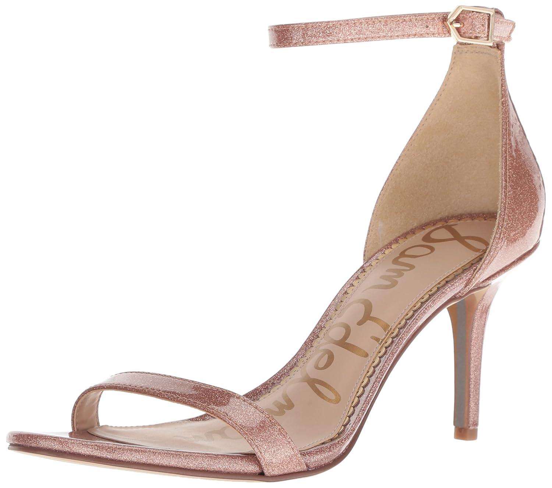 Sam Edelman Women's Patti Heeled Sandal B07BQYXZHD 6 W US|Nude Glitter Patent