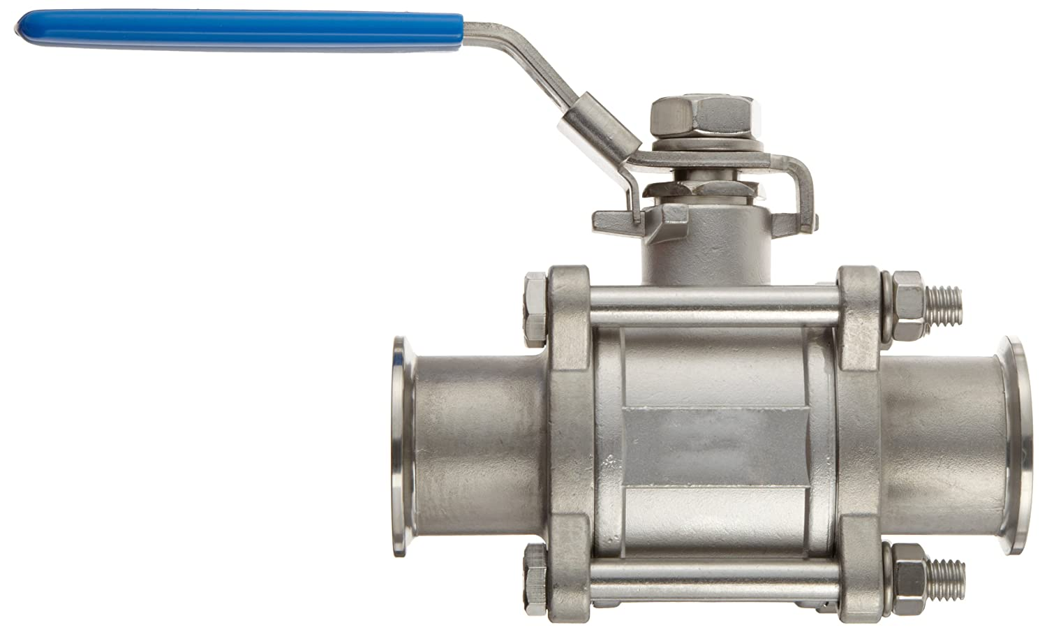 Dixon BV2GG-150CC-A Stainless Steel 304 Non-Encapsulated Ball Valve Three Piece 1-1//2 Tube OD Quick Clamp