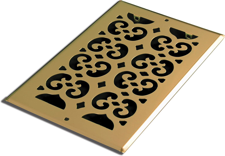 Decor Grates SP612R Cold Air Return Register, 6x12, Brass