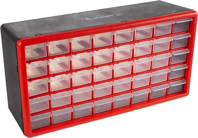 64 Drawer Storage Cabinet Parts Organizer Hardware Small Tool Bin Plastic Box