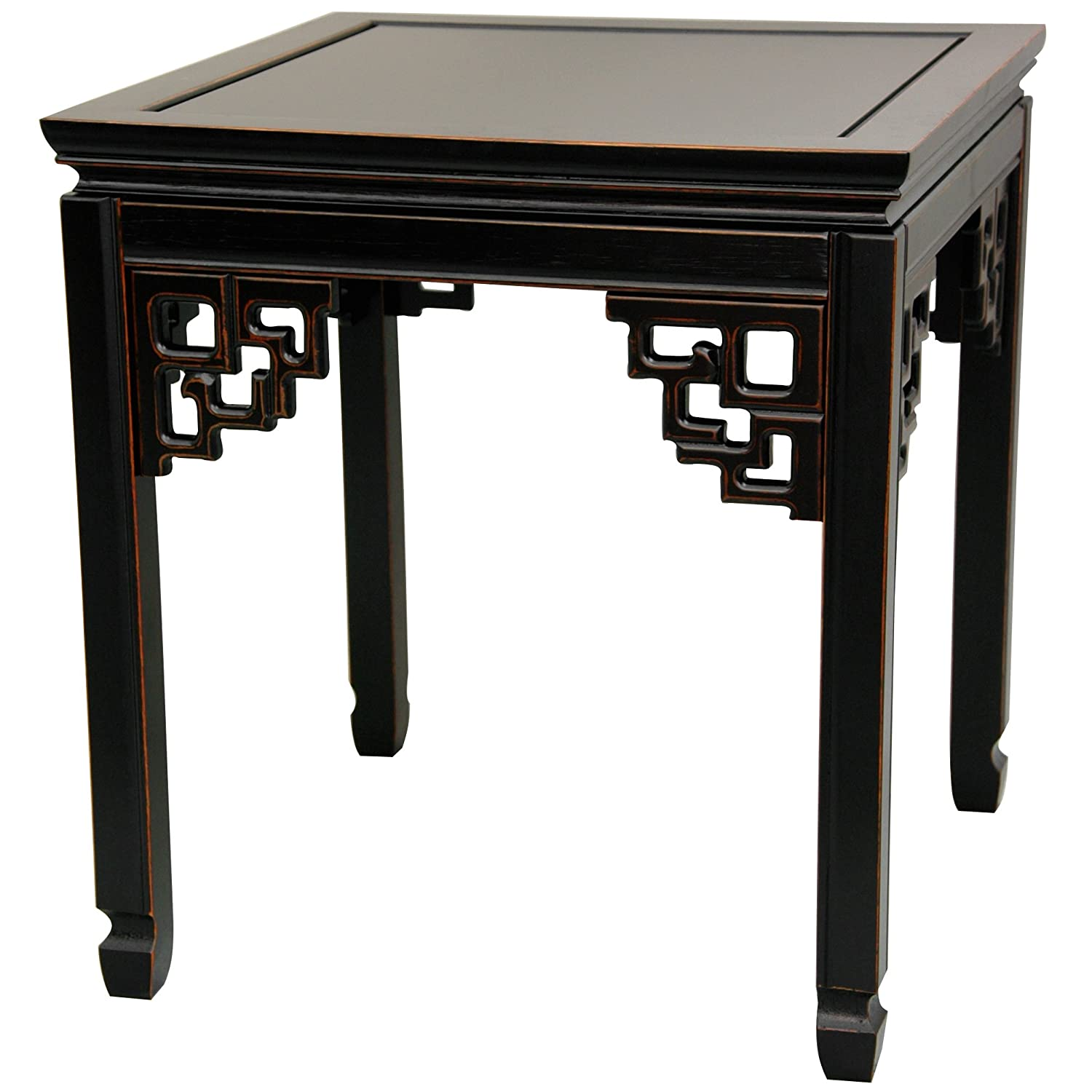 Amazon Com Oriental Furniture Rosewood Square Ming Table