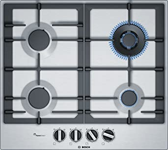 Bosch Serie 6 PCH6A5B90 hobs Negro, Acero inoxidable ...