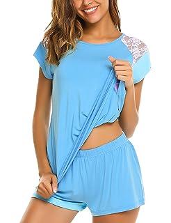 Avidlove Women s Pajama Set Short Sleeve Sleepwear Pjs Sets Ladies 2-Piece  Nightwear(S 973d4241e