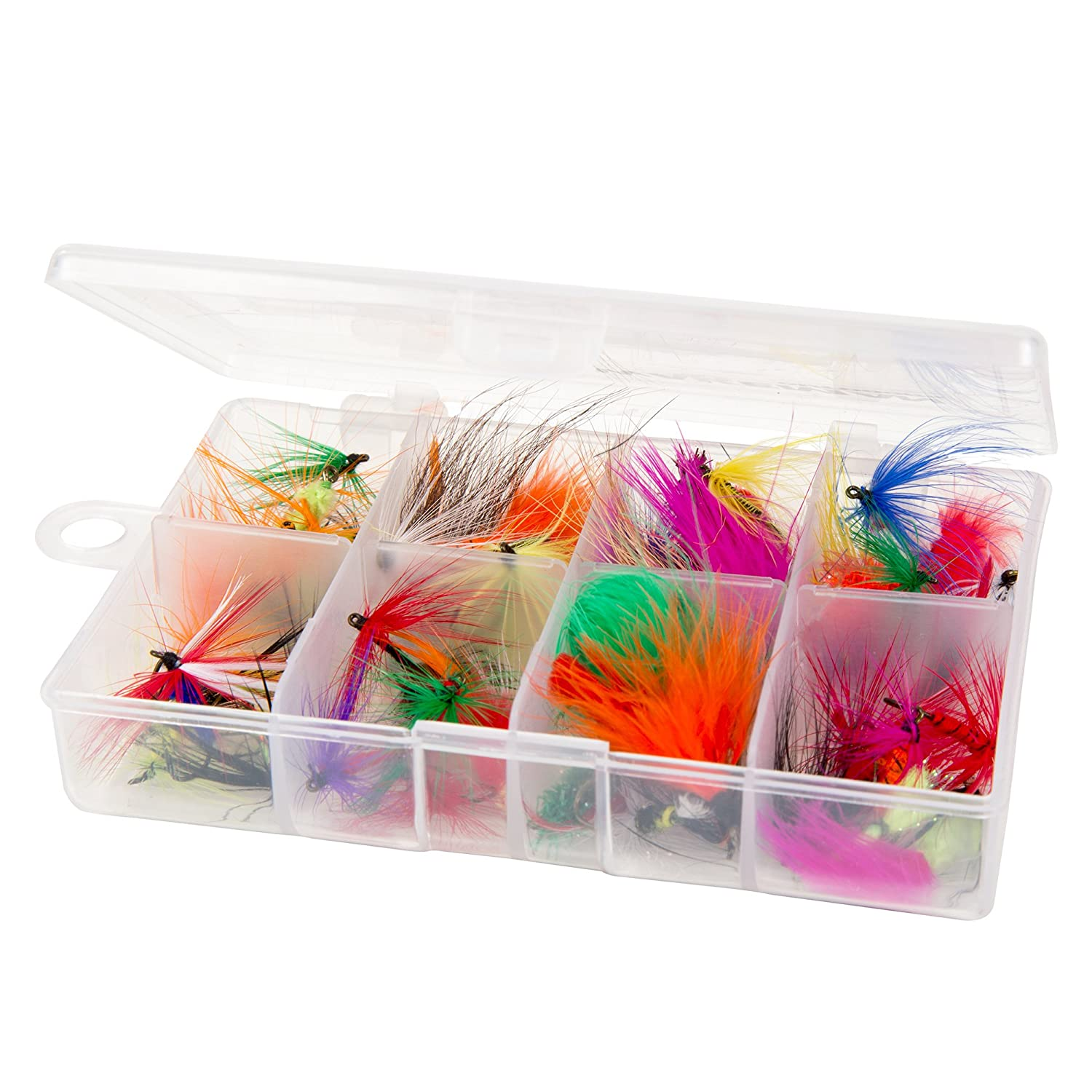 Fly Fishing Lures 50-Piece + O...