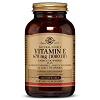 Solgar Vitamin E 670 mg (1000 IU), 100 Mixed Softgels - Natural Antioxidant, Skin & Immune System Support - Naturally-Sourced Vitamin E - Gluten Free, Dairy Free - 100 Servings