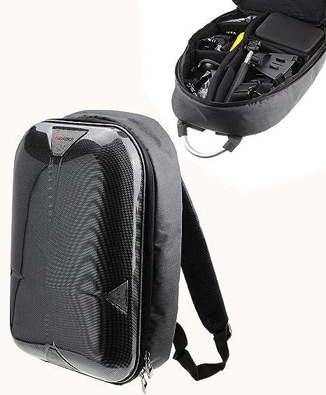 Navitech grau Handlung Kameratasche / Rucksack / Reisekoffer für die GoXtreme BlackHawk 4K Action Camera