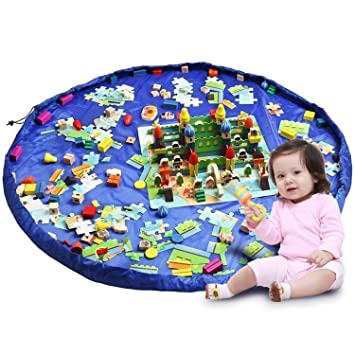 Hiveseen Toy Storage Bag Kids Floor Playmat And Tidy Organiser