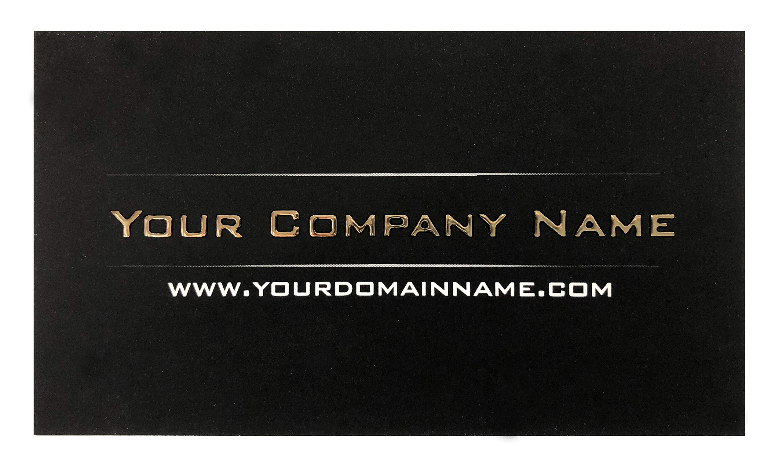 Custom Business Cards 100 pcs - Raised Gold Luxury - on 19pt card stock, suede finishing on both sides- Black business cards front and back, luxury business cards,Offset Printing, Made in The USA