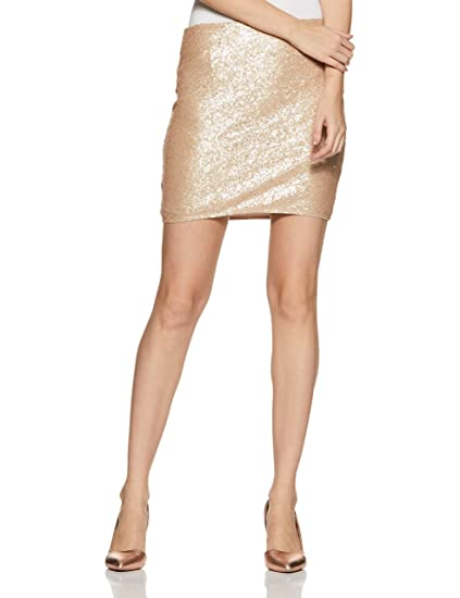 acf9096fcb Forever 21 Women's Contemporary Sequin Mini Skirt 250586, M, Rose Gold:  Amazon.in: Clothing & Accessories