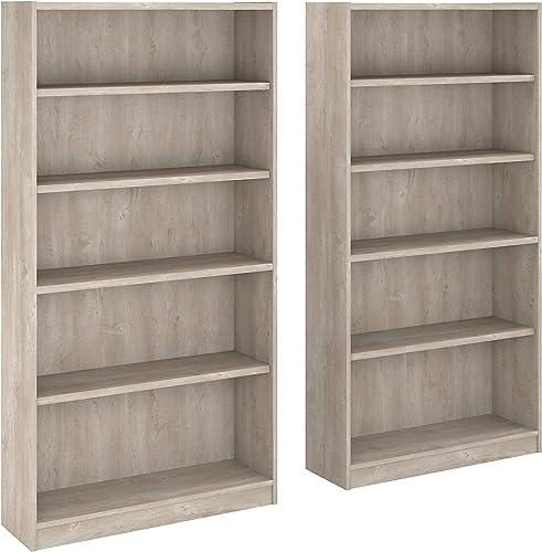 Reviewed: Bush Furniture Universal 5 Shelf Bookcase Set of 2