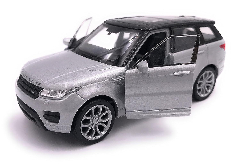 Welly Range Rover Sport Model Car Auto License Prodotto 1 Argento 34-1 39
