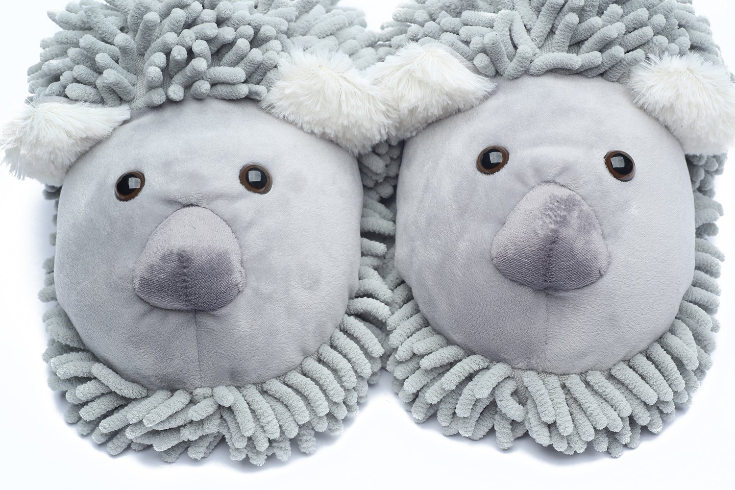 Ofoot Winter Warm Plush Anti-slip Indoor Animal Slippers for Women and Men (M/L 8-10 B(M) US, Grey(Koala)) by Ofoot (Image #2)