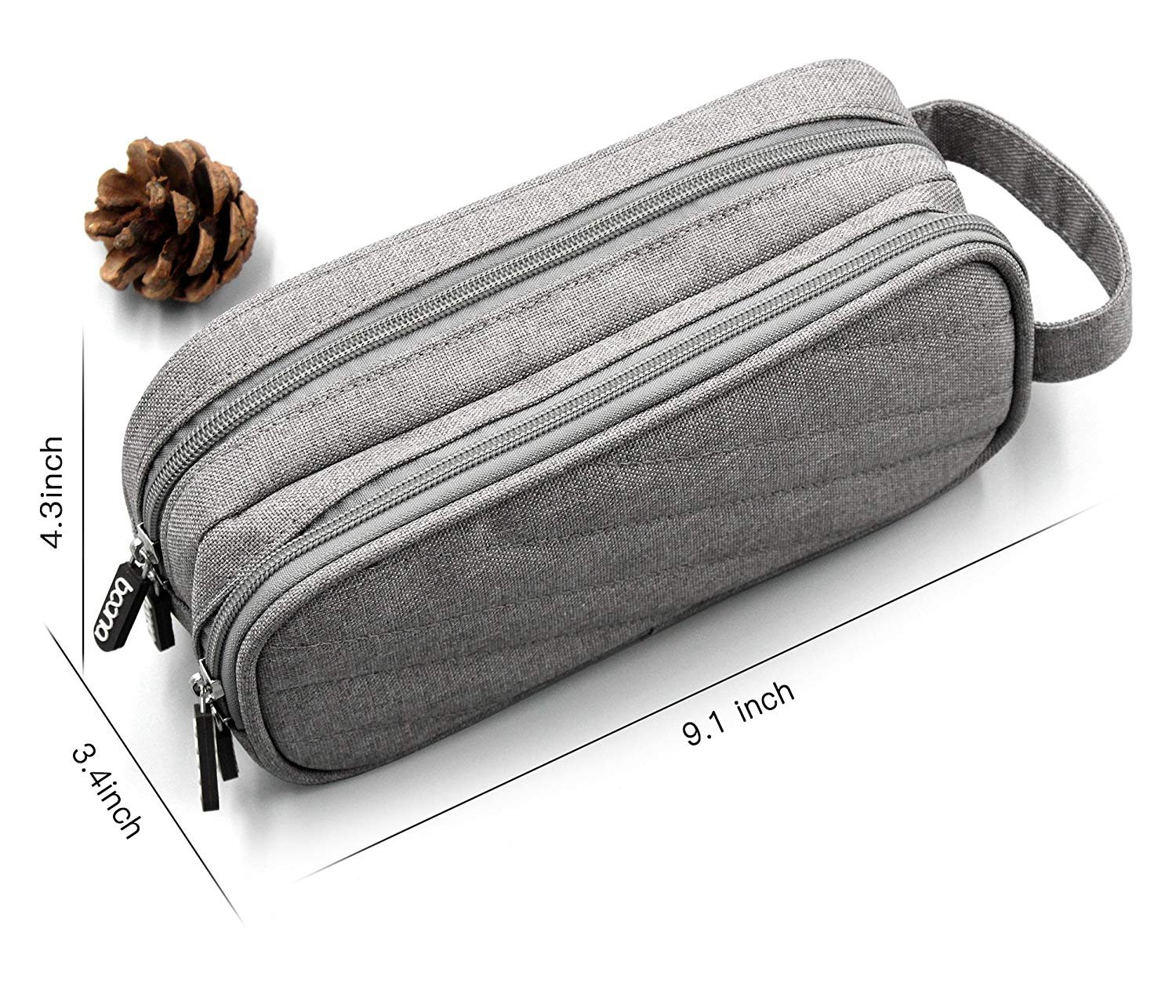 Electronics Accessories Organizer Bag, Double Layer Cable Cord Management Bag, Travel Camping Gear, Small Gadget Pouch for Plugs, Earphone and More(Grey) by YOYL (Image #3)