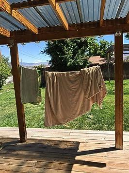 Zuukoo Cuerda Tendedero Retráctil, Portátil Tendedero 304 Acero Inoxidable Ajustable Cuerda de Ropa 2.8m Cuerda para Tender para el balcón del baño ...