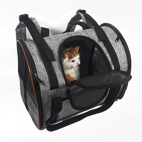 Ewolee - Mochila transportadora para Perro, con Correa de Hombro para Perros y Gatos,