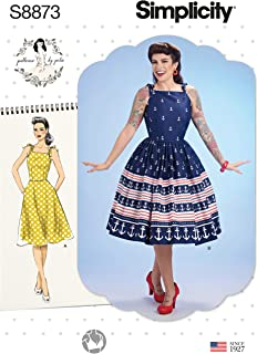 product image for Simplicity Sewing Pattern S8873 P5 Misses' Dress by Patterns by Gertie, Size 12-20