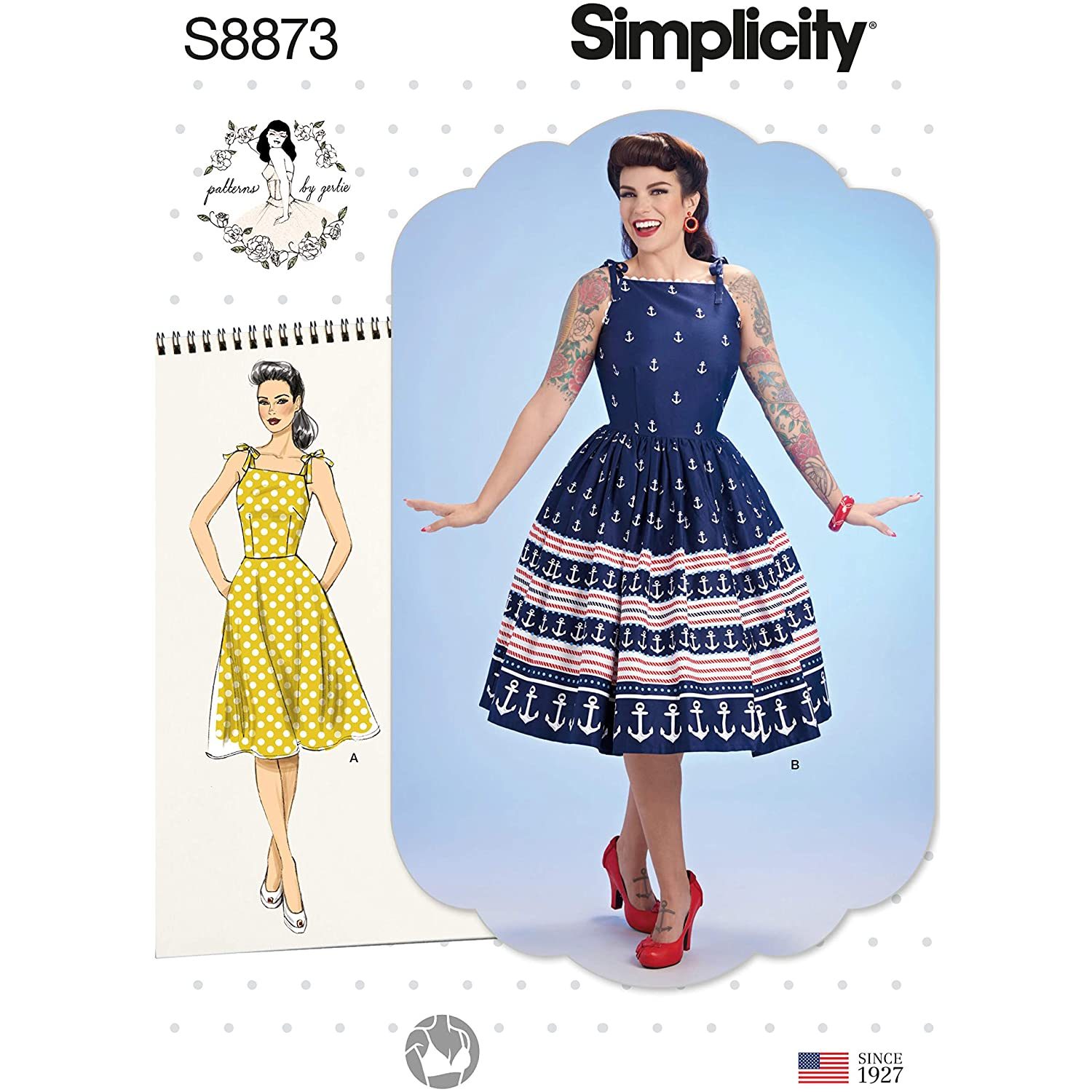 1950s Sewing Patterns | Dresses, Skirts, Tops, Mens Simplicity Dress-12-14-16-18-20 $13.00 AT vintagedancer.com
