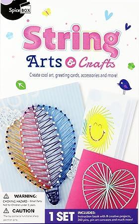 spicebox sp23987 make and play range string art kit amazon co uk