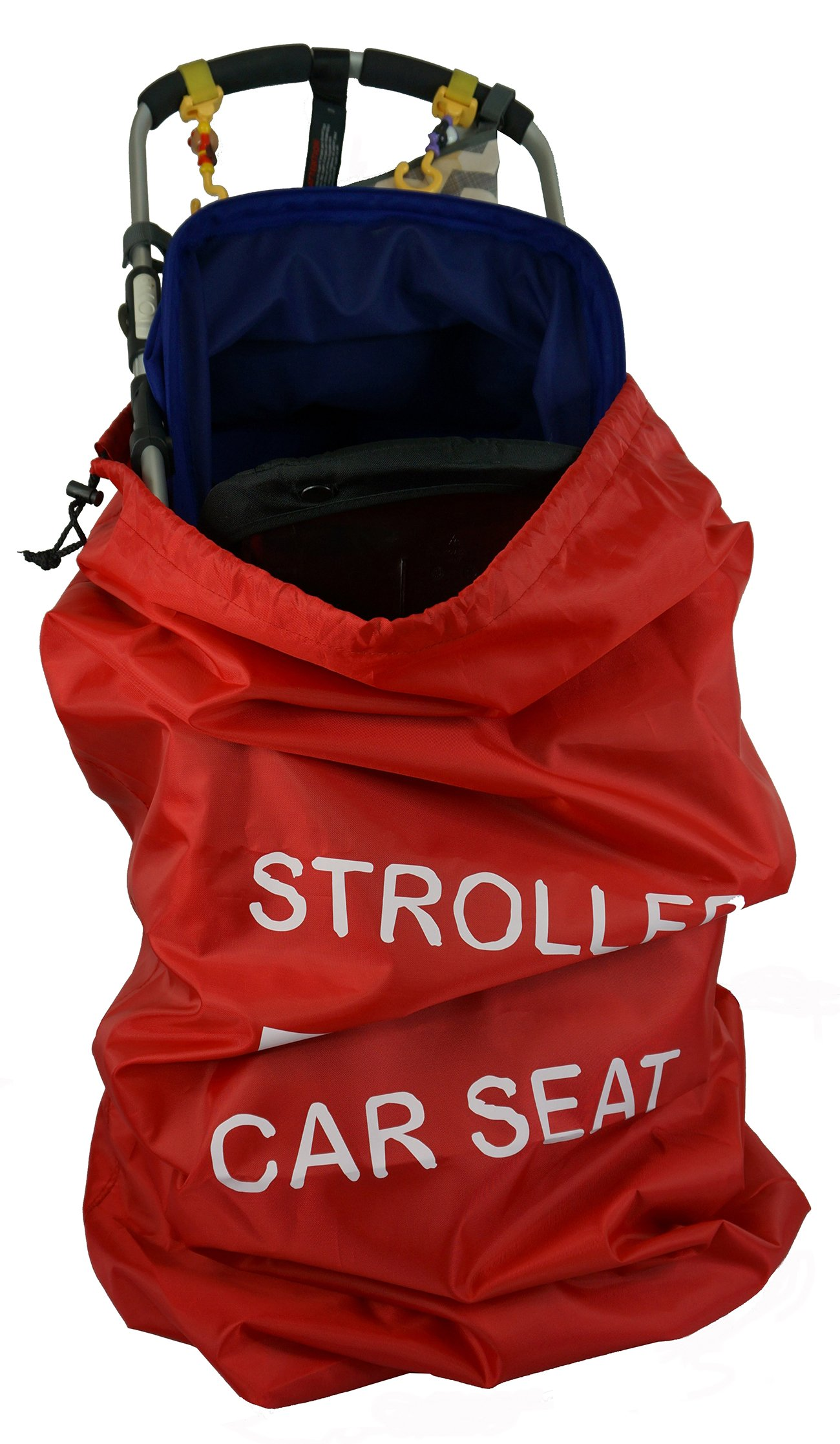 Stroller Travel Bag Gate Check Baby Carseat Backpack Large Lightweight Universal Jogging Single and Double Joggers Car Seat Umbrella Strollers Storage Bags with Padded Shoulder Straps Red