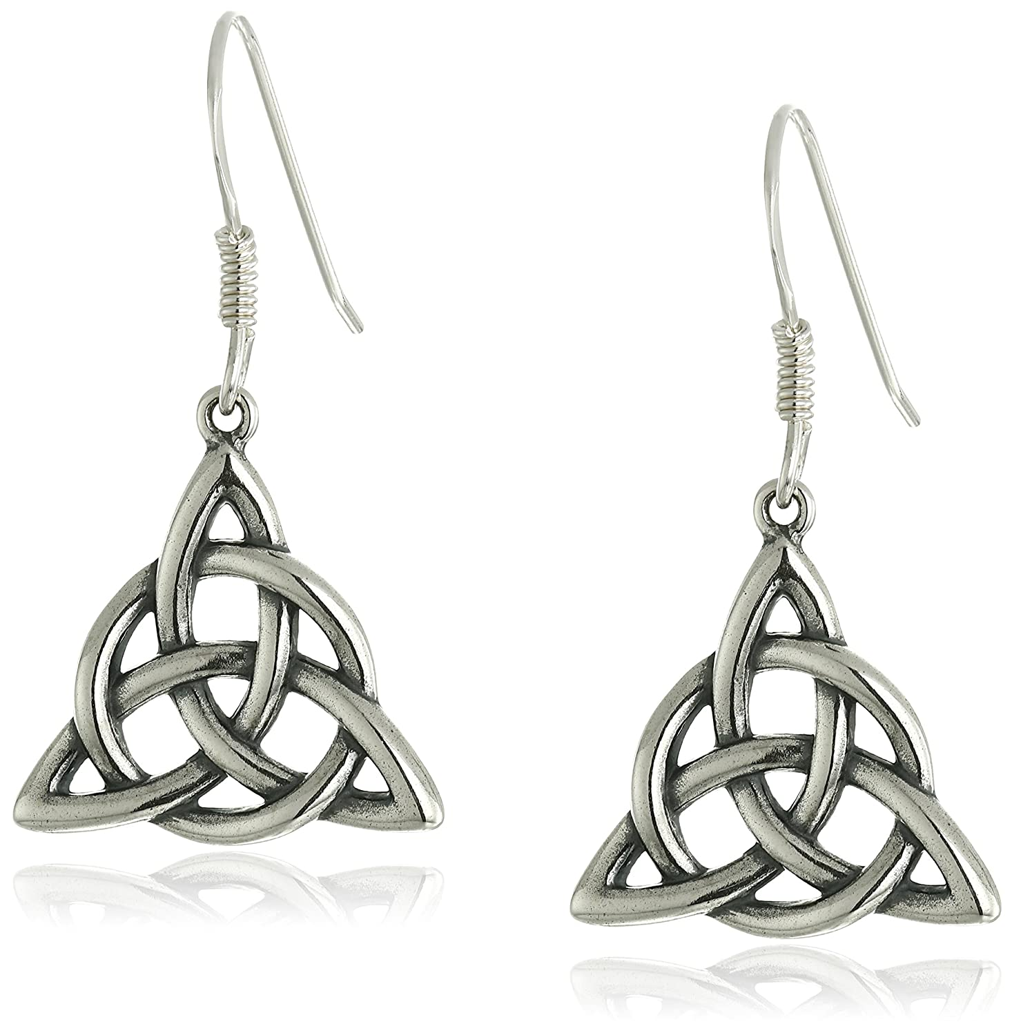 Amazon.com: 14k Rose Gold Plated Sterling Silver Two Tone Celtic ...