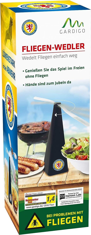 Gardigo Fliegenwedler Fliegenabwehr f/ür Lebensmittel Fliegenvertreiber Insektenschutz Eintracht Braunschweig Edition Wirkungsbereich 50 cm
