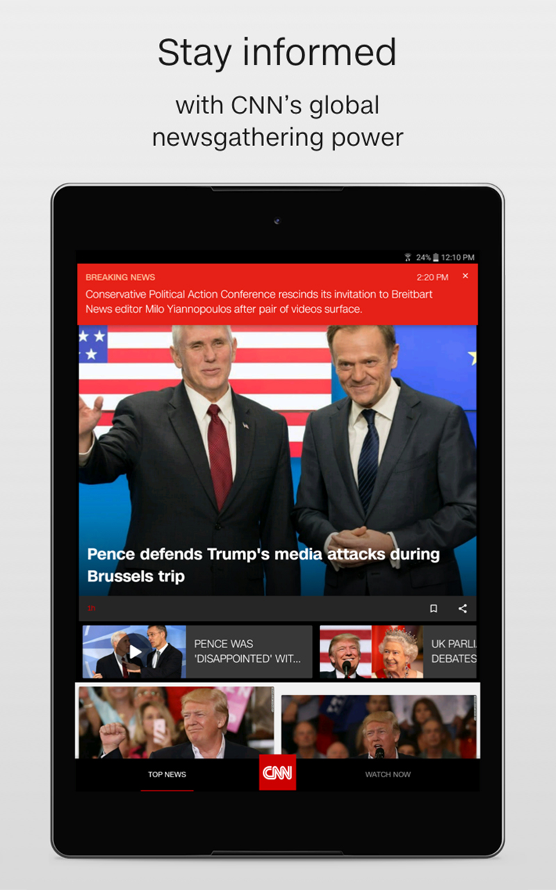 amazon com cnn breaking us u0026 world news appstore for android
