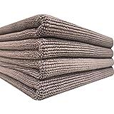 [SPLASH JAPAN]洗車 タオル 縁無し 傷防止 超吸水 WAX拭き取り マイクロファイバー クロス Multi-Towel (Grey) (42x35cm) (4枚入)