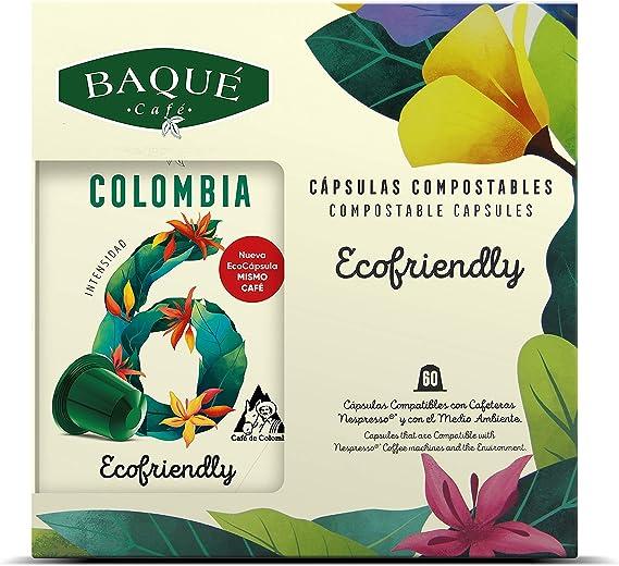 Cafés Baqué 60 Capsulas Compatibles Nespresso Colombia ...