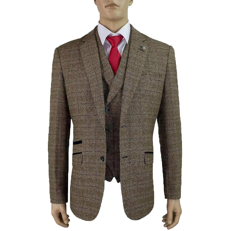 Cavani Mens Wool Mix Tweed Suits ALBERTZ at Amazon Men's