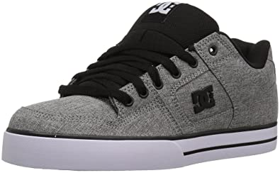DC Men's Pure TX SE Skate Shoe, Heather Grey, 10 D D US