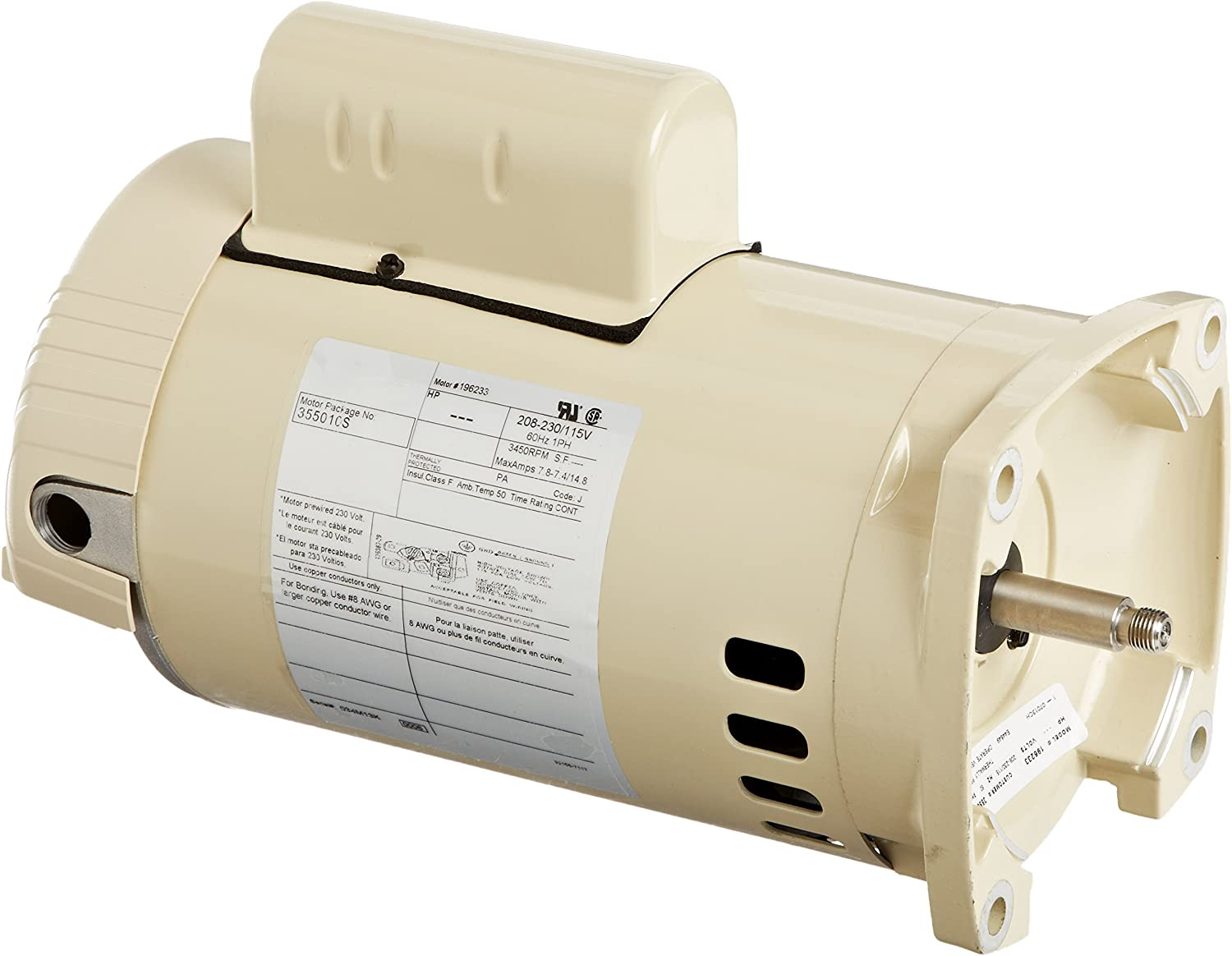 Pentair 355010S Energy Efficient Single Speed Replacement Motor