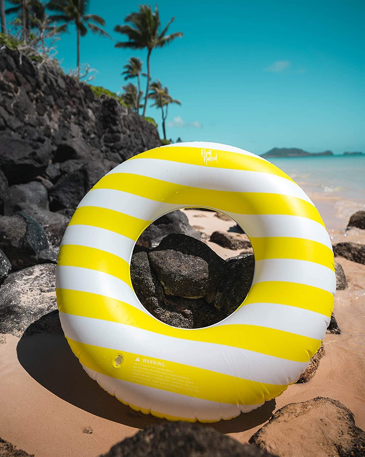 Blue Stripe Celebrity-Approved Tubes for Floating Great Inner Tube Pool Floaty for All Ages Float Naked Fun Swim Floaties for Adults Pool Tubes with Fun Prints