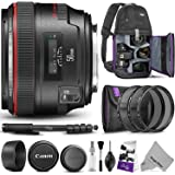 Canon EF 50mm f/1.2L USM Lens w/Advanced Photo and Travel Bundle - Includes: Altura Photo Sling Backpack, Monopod, Camera Cleaning Set