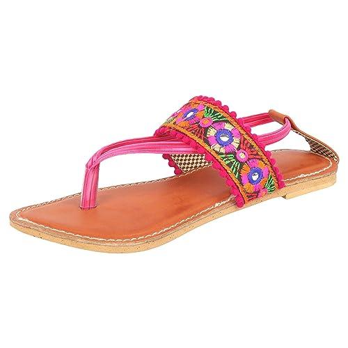 5e5b9f626bde Ethniche Designs Women Sling Heeled Sandal