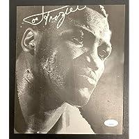 $137 » Joe Frazier Signed Photo Magazine Page B&W Boxing Autograph Heavyweight HOF JSA - Autographed Boxing Magazines