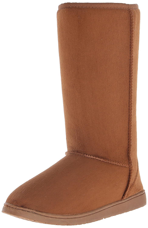 DAWGS Womens 13 Inch Microfiber Faux Shearling Vegan Winter Boots B001KIXIR8 6 B(M) US|Chestnut