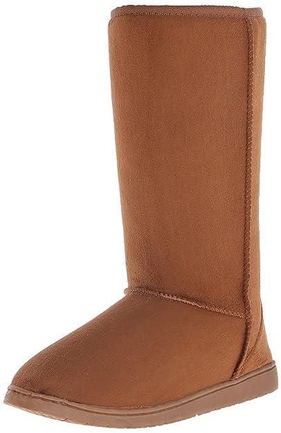 5a77942cd96 DAWGS Womens 13 Inch Microfiber Faux Shearling Vegan Winter Boots
